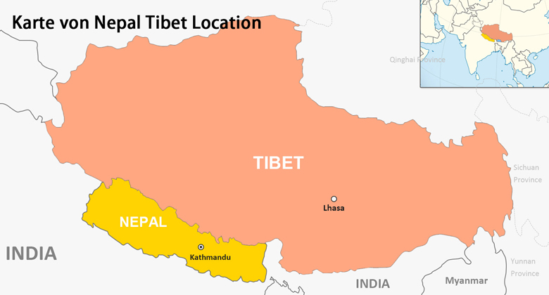 Tibet Nepal Karte