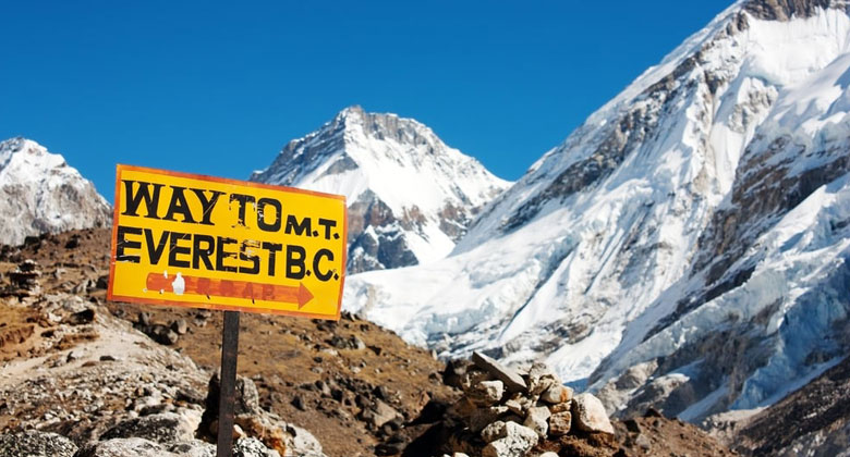 Das Weg nach Mount Everest