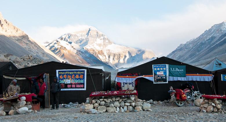 Everest Base Camp Nepal gegen Everest Everest Base Camp Tibet